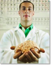 """""""Young Scientist Holding Human Brain"""""""